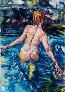 Dominic Shepherd   The Cave   2017   Oil on linen   20x14cm