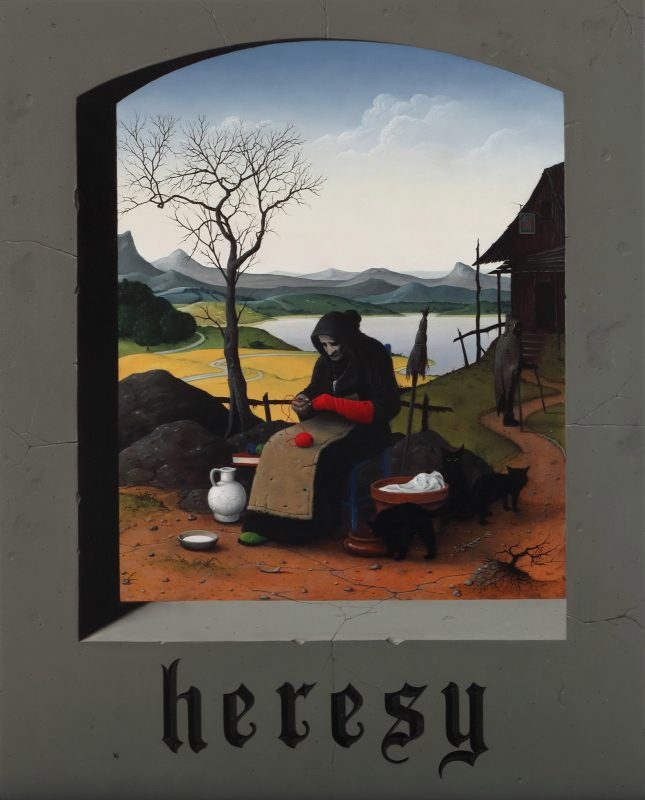 John Stark   Heresy   2017   Oil on wood panel   50x40cm