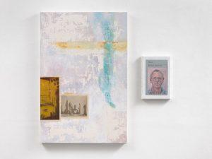 Alastair Gordon & Hugh Mendes | Obituary: At the Edge of Water | 2017 | Oil on panel & Oil on linen | 90x90cm