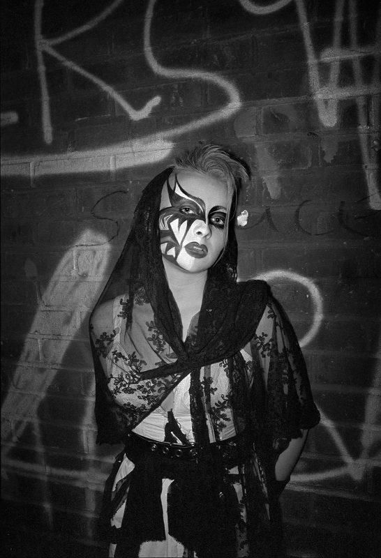Derek Ridgers   Tanya, The Batcave   1983   Silver bromide print