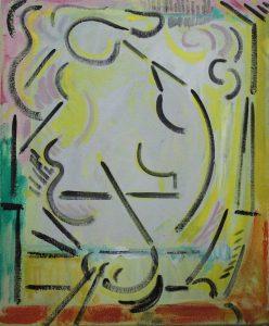 Kiera Bennett | Coloured Cave | 2017 | Oil on canvas | 55x45cm