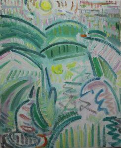 Kiera Bennett | Plein Air, Munch Sunset | 2017 | Oil on canvas | 55x45cm