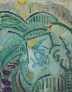 Kiera Bennett | Plein Air, Yellow Sun | 2017 | Oil on canvas | 45x35cm