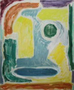 Kiera Bennett | Studio Face, Frontal 2 | 2017 | Oil on canvas | 55x45cm