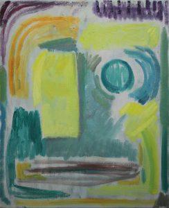 Kiera Bennett | Studio Face, Frontal 1 | 2017 | Oil on canvas | 55x45cm