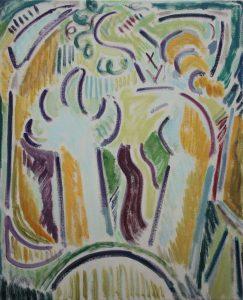 Kiera Bennett | Studio Hands, Easel | 2017 | Oil on canvas | 55x45cm
