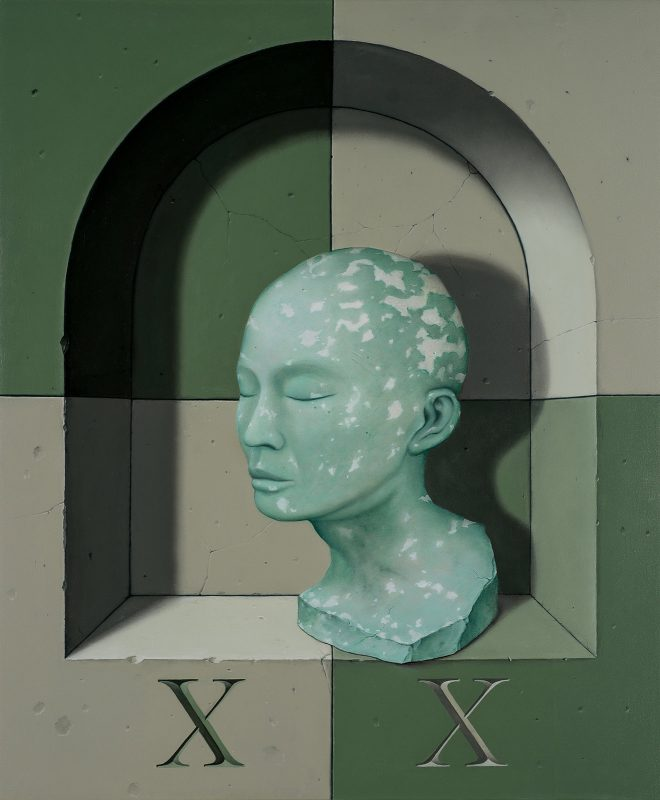 John Stark   XX   2017   Oil on wood panel   60x50cm