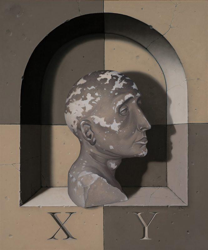 John Stark   XY   2017   Oil on wood panel   60x50cm
