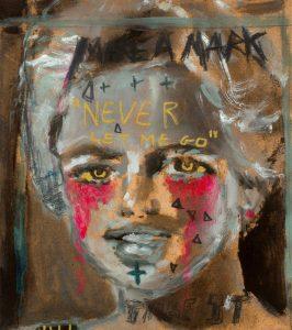 Sam Jackson | Never Let Me Go | 2018 | Oil on board | 20x18cm