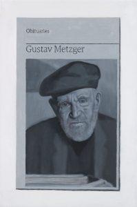 Hugh Mendes | Obituary: Gustav Metzger | 2017 | Oil on linen | 30x20cm