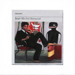 Hugh Mendes | Obituary: Jean-Michel Basquiat | 2018 | Oil on linen | 35x35cm