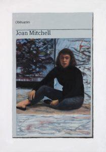 Hugh Mendes | Obituary: Joan Mitchell | 2017 | Oil on linen | 35x25cm