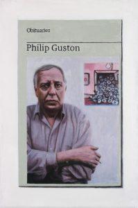 Hugh Mendes | Obituary: Phillip Guston | 2017 | Oil on linen | 30x20cm