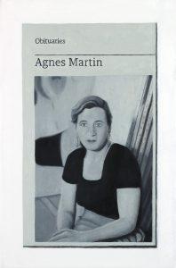 Hugh Mendes | Obituary: Agnes Martin | 2017 | Oil on linen | 30x20cm