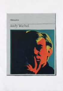 Hugh Mendes | Obituary: Andy Warhol | 2017 | Oil on linen | 35x25cm