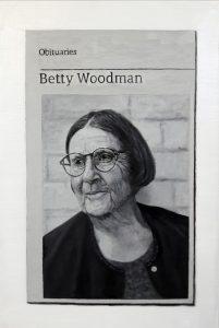 Hugh Mendes   Obituary: Betty Woodman   2018   Oil on linen   30x20cm