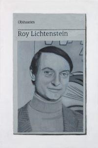 Hugh Mendes | Obituary: Roy Lichtenstein | 2017 | Oil on linen | 30x20cm