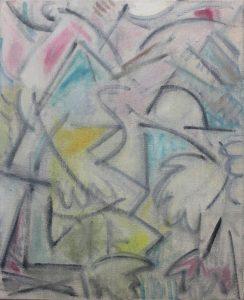 Kiera Bennett | Insomnia (Pastels) | 2018 | Oil on canvas | 55x45cm