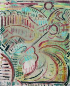Kiera Bennett | Plein Air (Red Lines) | 2018 | Oil on canvas | 55x45cm