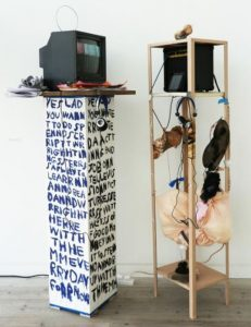 Barry Finan & Rosanne Robertson | YES LAD, YES LASS | 2016 | Collaborative mixed media video installation | 160x120x40cm