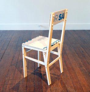Matt Calderwood | For Sale Chair (FOR SA) | 2018 | Wood & polypropylene | 40x89x31cm
