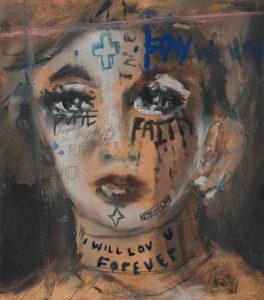 Sam Jackson   The Death Of Lovers   2018   Oil on board   20x18cm