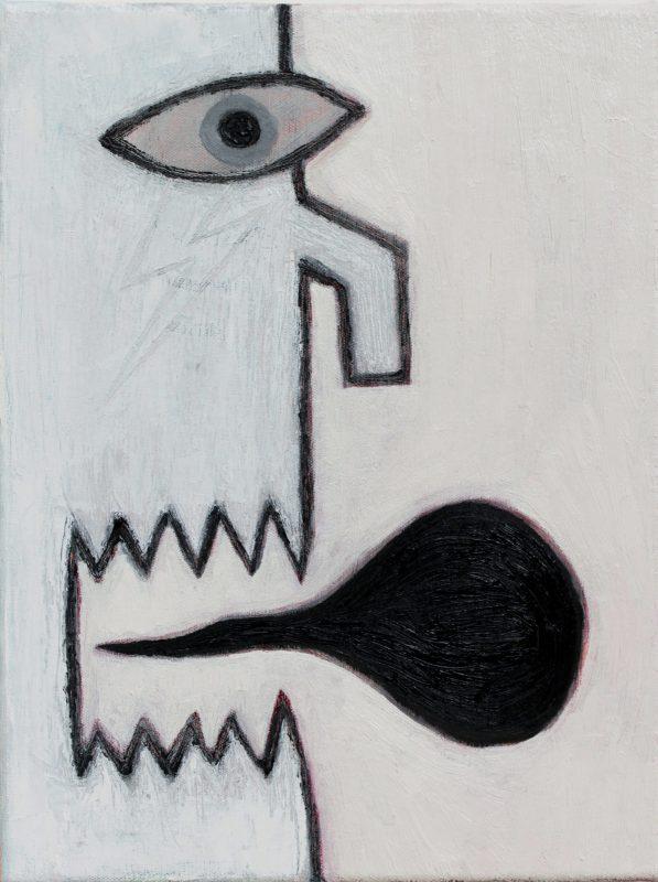 Alex Gene Morrison | Crooked Nose (Bolt Scar) | 2018 | Oil on canvas | 40x30cm