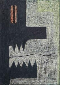 Alex Gene Morrison | Orange Eye (Yellow Border) | 2018 | Oil on canvas | 35x25cm