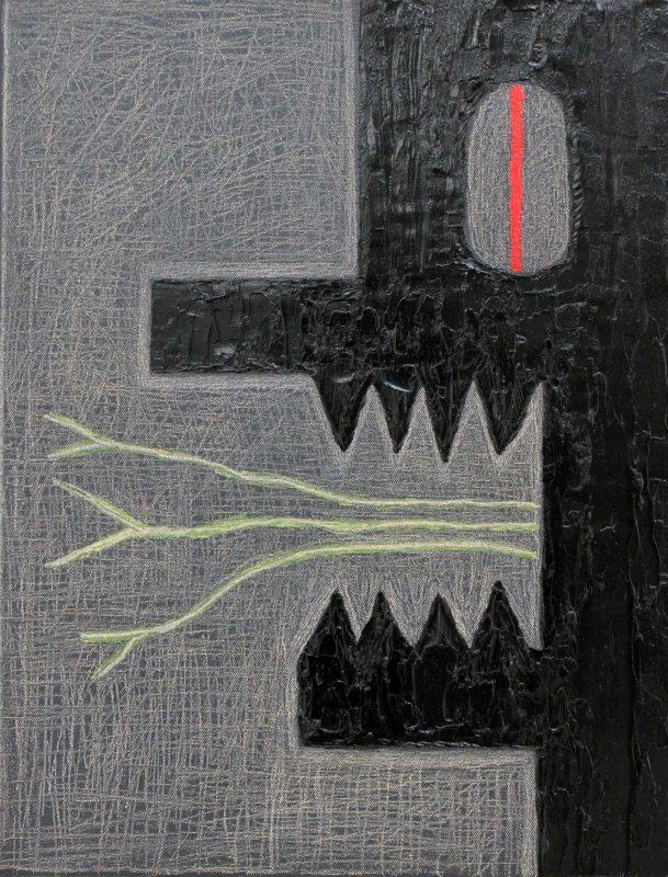 Alex Gene Morrison | Red Eye (Green Tongues) | 2018 | Oil on canvas | 45x35cm