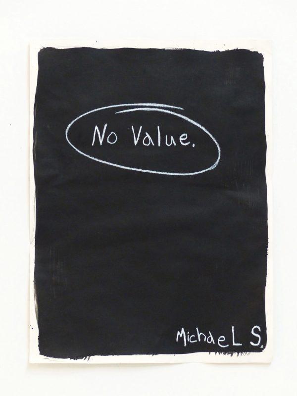 Michael Scoggins | No Value | 2014 | Graphite, china marker on archival paper | 60.1×45.7cm