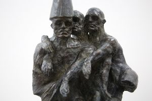 Beth Carter | Brothers | Bronze with steel base | 89x45x32cm | ed. 10 (Detail)