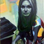 Gavin Nolan | Animating Roles | 2018 | Oil on canvas | 24x18cm