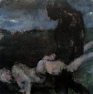 Lisa Ivory | Rampant | 2018 | Oil on linen | 36x36cm