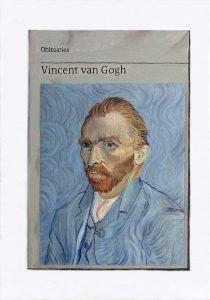 Hugh Mendes | Obituary: Vincent van Gogh | 2018 | Oil on linen | 35x25cm