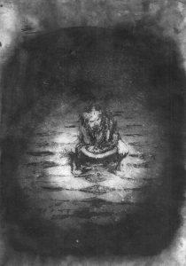 Josef Ofer | Untitled 150 | 2017 | Ink on paper | 29.7x21cm