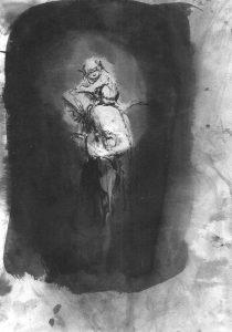 Josef Ofer | Untitled 157 | 2017 | Ink on paper | 29.7x21cm
