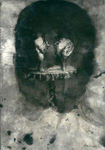 Josef Ofer | Untitled 5 | 2017 | Ink on paper | 29.7x21cm