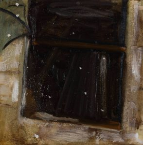 Peter Ashton Jones | Twenty Snowy Mountains | 2018 | Oil on canvas | 32x32cm