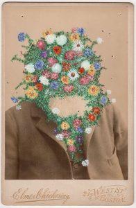 Tom Butler   (Ten Elmers) Floral Elmer   2018   Gouache on Albumen print   16.5×10.8cm
