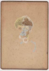Tom Butler   Grace   2018   Gouache on Albumen print   16.5×10.8cm