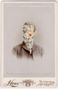 Tom Butler   Howe   2018   Gouache on Albumen print   16.5x10cm