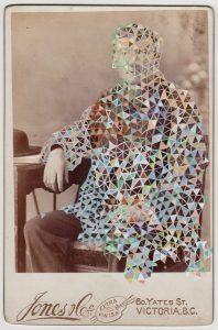 Tom Butler   Jones   2018   Gouache on Albumen print   16.5×10.8cm