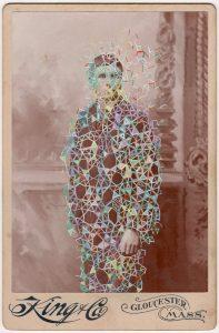 Tom Butler   King   2018   Gouache on Albumen print   16.5×10.8cm0