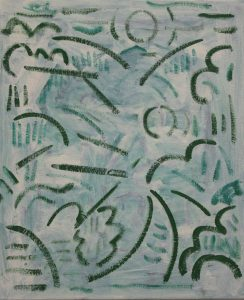 Kiera Bennett | Plein Air (green lines) | 2018 | Oil on canvas | 55x45cm