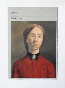 Hugh Mendes | Obituary: Gwen John | 2018 | Oil on linen | 40x30cm