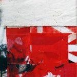 Yasmine Robinson | FEBLU | 2018 | Oil, spray paint, crepe paper, rope and tarpaulin on canvas | 240x160cm