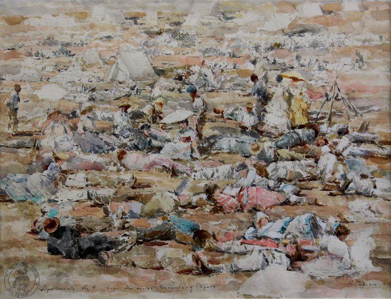 Ariel Cabrera Montejo | Apotheosis No.3 from the series La Tregua Fecunda | 2017 | Watercolor, gouache and ink on heavy paper | 45.5x56cm