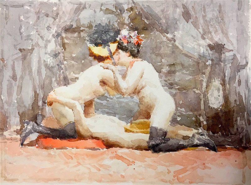 Ariel Montejo Cabrera | From the series La Tregua Fecunda | 2016 | Watercolour on paper | 28.5x37cm