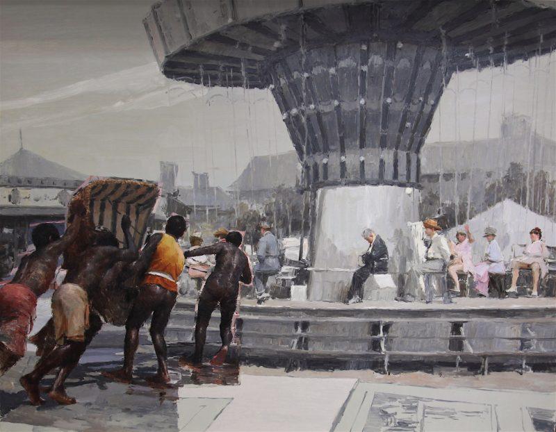 Ariel Cabrera Montejo | Thematic Park No.6 | 2018 | Oil on canvas | 75x96cm