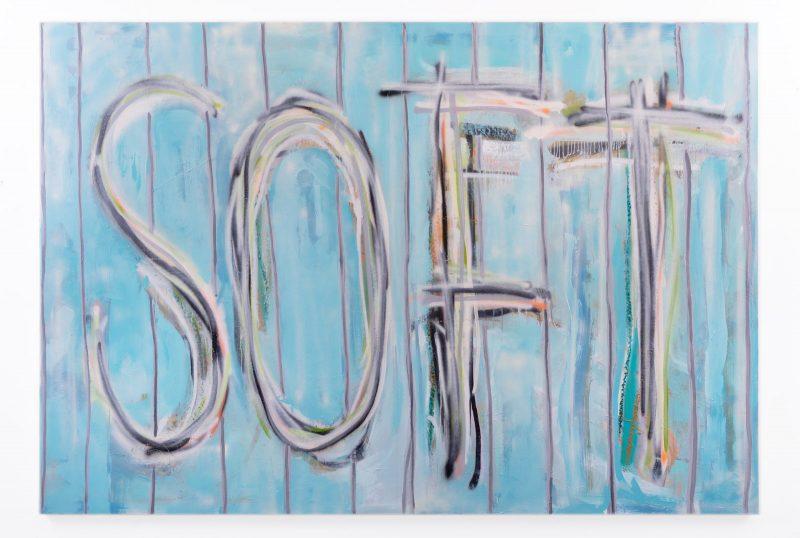 Thomas Langley | Soft (Sludge Puppy) | 2018 | Oil, spray paint on canvas | 150x220cm